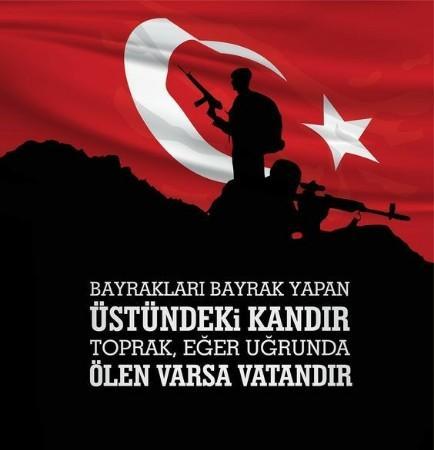 Türk Bayraklı Vatan Sözleri