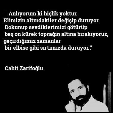 Cahit Zarifoğlu Anlamlı Sözleri