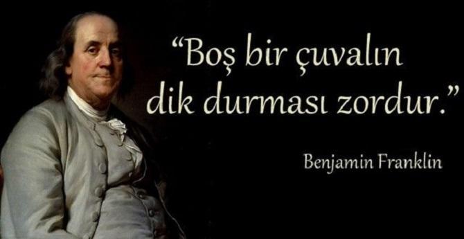 Kısa Benjamin Franklin Sözleri