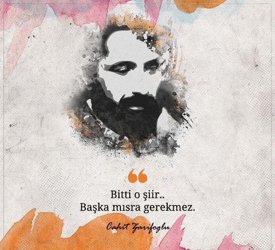 Kısa Cahit Zarifoğlu Sözleri