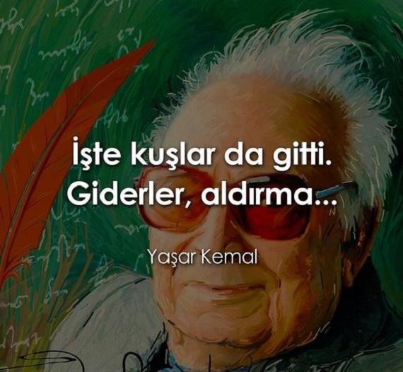 Yaşar Kemal Anlamlı Sözleri