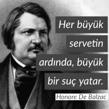 Kısa Honore de Balzac Sözleri