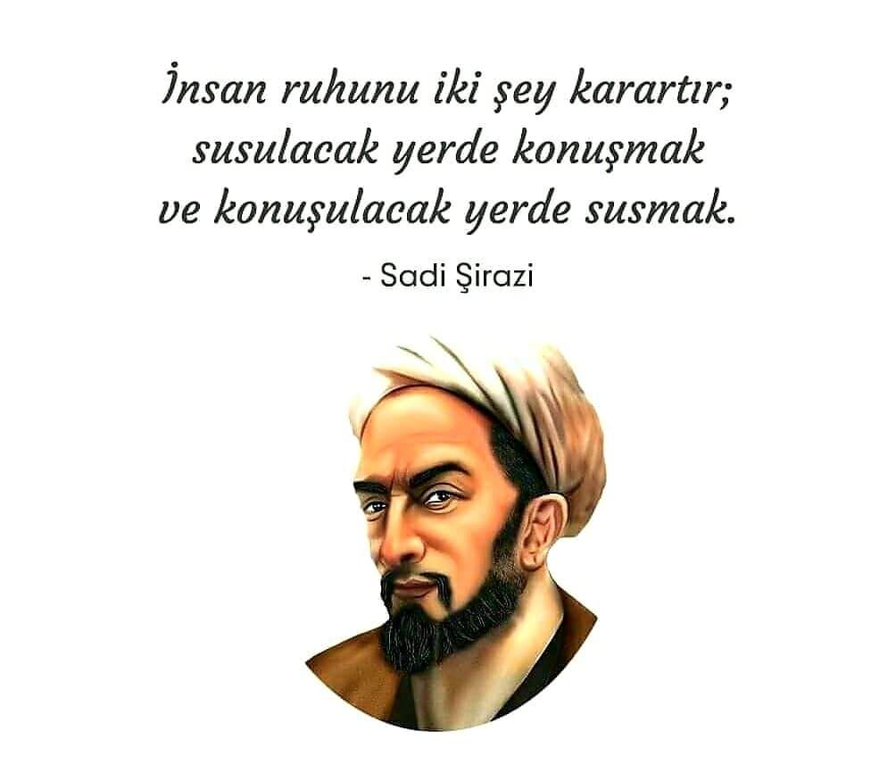 Sadi Şirazi Özlü Sözleri