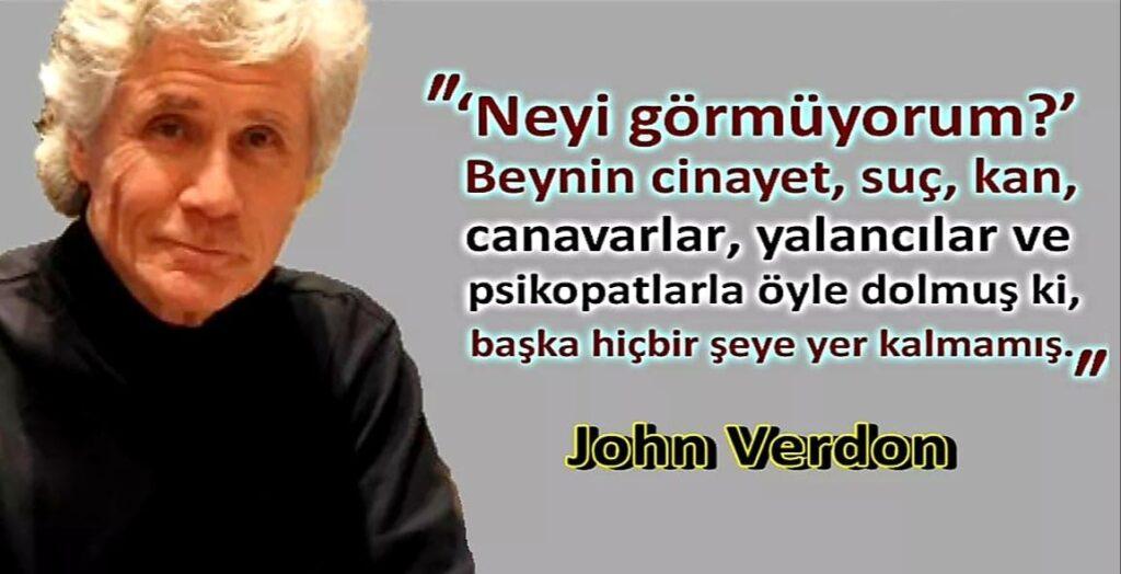 John Verdon İz Bırakan Sözleri