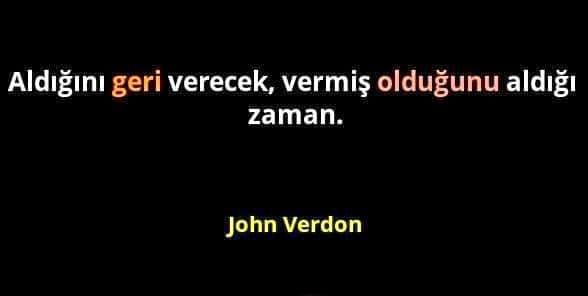 John Verdon Resimli Sözleri