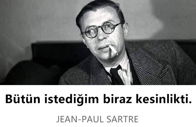 Kısa Jean-Paul Sartre Sözleri